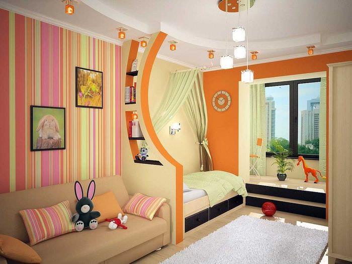 идея необычного интерьера детской комнаты
