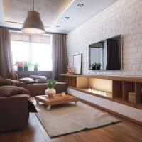 пример красивого дизайна гостиной комнаты 16 кв.м фото