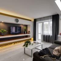 вариант яркого дизайна гостиной комнаты 16 кв.м картинка