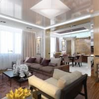 пример светлого дизайна гостиной 25 кв.м фото