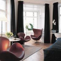 пример светлого дизайна гостиной с эркером фото