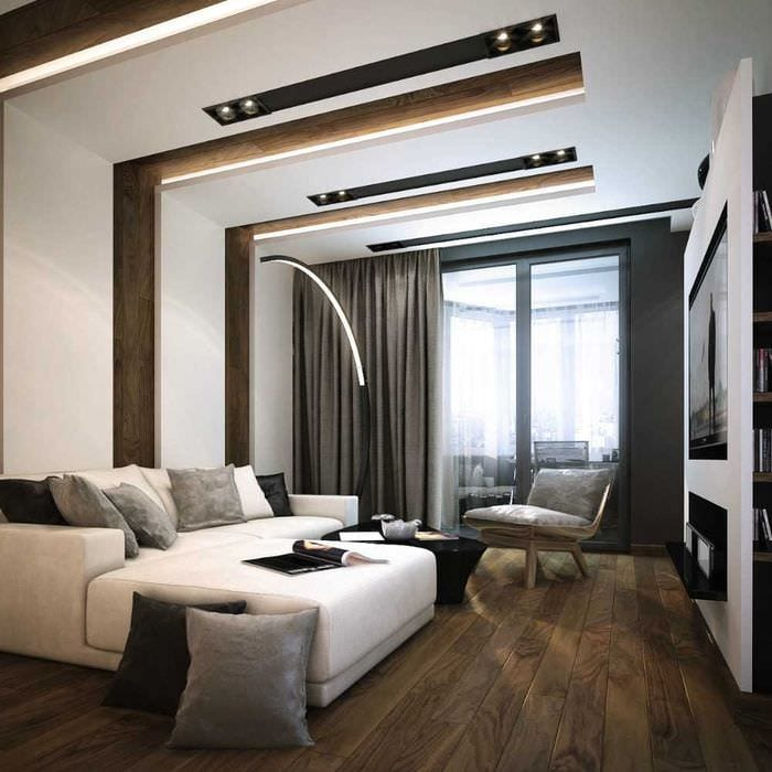 пример необычного интерьера квартиры 70 кв.м