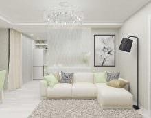 идея яркого интерьера квартиры в светлых тонах в современном стиле фото