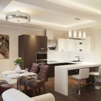 вариант светлого дизайна квартиры в светлых тонах в современном стиле картинка