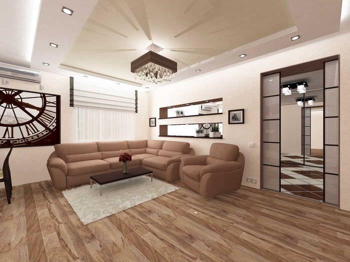 вариант красивого дизайна квартиры 50 кв.м
