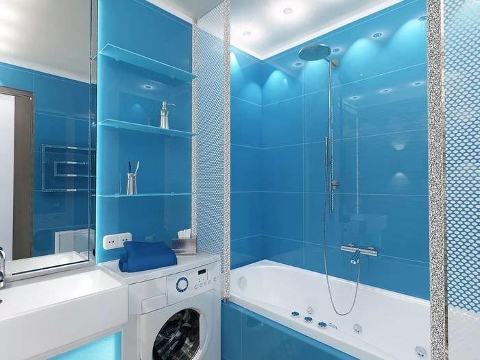 пример красивого дизайна ванной комнаты 5 кв.м