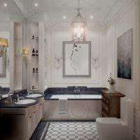 идея яркого стиля ванной в классическом стиле картинка