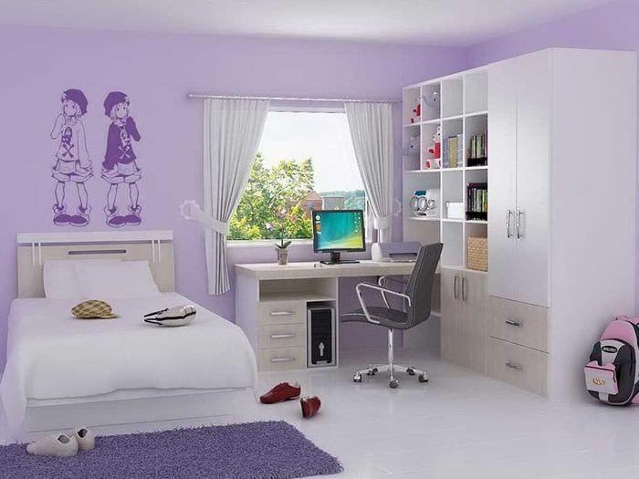 вариант красивого дизайна детской комнаты для девочки