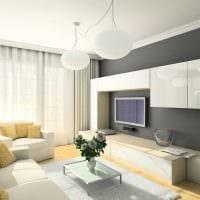 пример светлого стиля гостиной комнаты 19-20 кв.м картинка