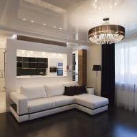 пример необычного интерьера гостиной 16 кв.м фото