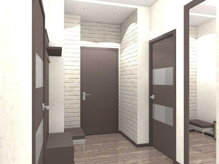 пример красивого дизайна современной квартиры 65 кв.м