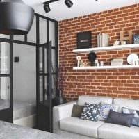 вариант необычного интерьера современной квартиры 50 кв.м картинка