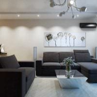 вариант светлого стиля современной квартиры 70 кв.м фото