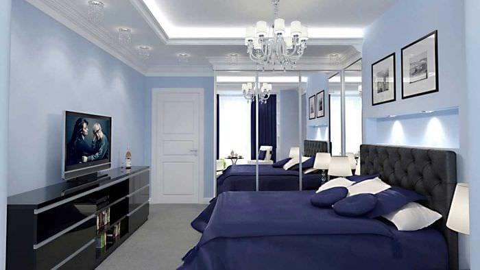 вариант светлого интерьера современной квартиры 70 кв.м