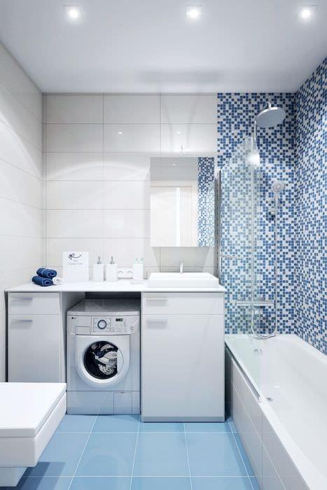 вариант красивого стиля ванной комнаты 5 кв.м
