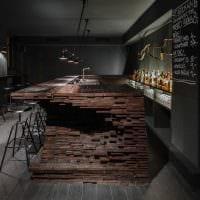 вариант необычного декора кафе в стиле лофт фото