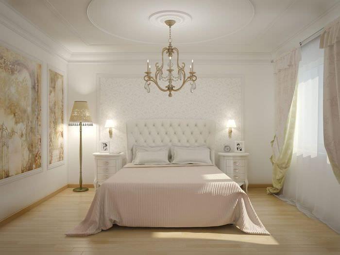 вариант яркого декора комнаты в стиле современная классика