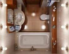 пример красивого интерьера ванной комнаты в хрущевке фото