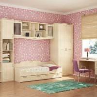 идея необычного стиля детской комнаты для девочки картинка