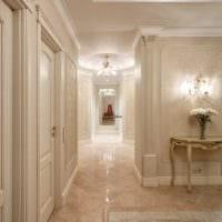 вариант светлого дизайна квартиры в стиле современная классика фото