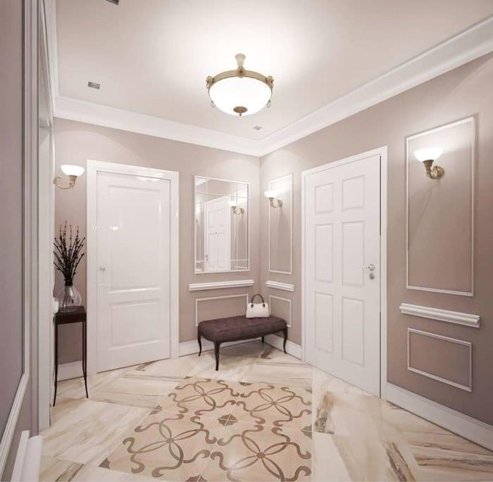 вариант светлого дизайна комнаты в стиле современная классика