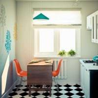 пример необычного декора современной квартиры 50 кв.м фото