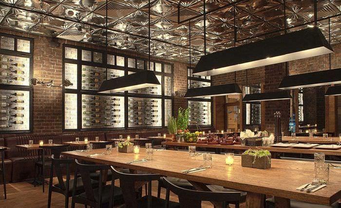 идея яркого дизайна ресторана в стиле лофт