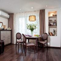 вариант светлого интерьера современной квартиры 50 кв.м фото
