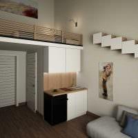 идея современного стиля небольшой гостинки картинка