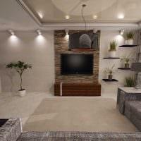 вариант светлого интерьера гостиной 19-20 кв.м фото