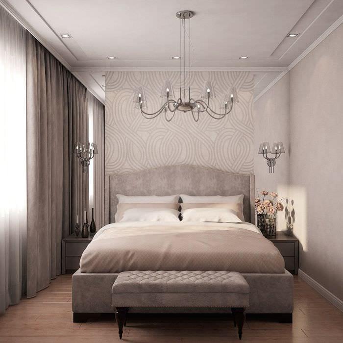 вариант светлого интерьера квартиры в стиле современная классика
