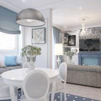 идея яркого декора квартиры в светлых тонах в современном стиле фото