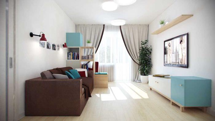 пример светлого интерьера квартиры 70 кв.м