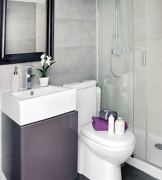 вариант необычного дизайна ванной 3 кв.м