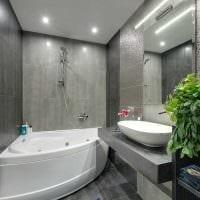 идея необычного интерьера ванной 6 кв.м фото