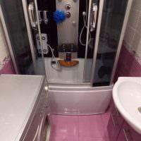 идея яркого дизайна ванной комнаты 3 кв.м картинка