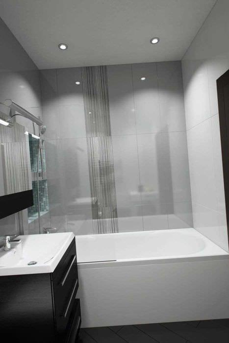 вариант красивого интерьера ванной 3 кв.м