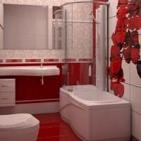 вариант красивого стиля ванной комнаты 5 кв.м картинка