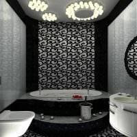 идея необычного стиля ванной 6 кв.м фото