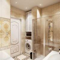 вариант красивого стиля ванной комнаты в классическом стиле фото