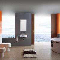 идея необычного стиля большой ванной комнаты фото