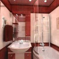 вариант современного интерьера большой ванной картинка