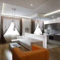 пример светлого интерьера гостиной комнаты 25 кв.м картинка