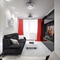 пример яркого интерьера гостиной комнаты 16 кв.м фото