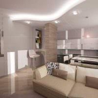 пример светлого стиля гостиной 25 кв.м фото