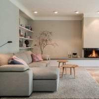 вариант яркого дизайна гостиной в стиле минимализм картинка