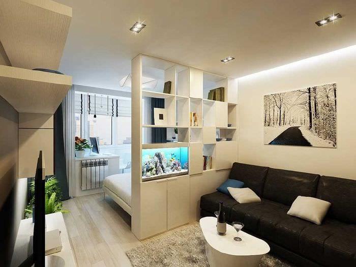 Дизайн проект маленьких квартир с выделенной спальней