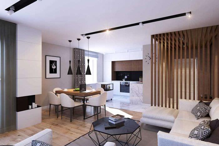 вариант красивого дизайна современной квартиры 70 кв.м