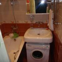 идея яркого дизайна ванной комнаты 2.5 кв.м картинка