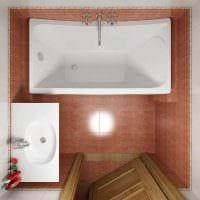 вариант необычного дизайна ванной комнаты 3 кв.м фото